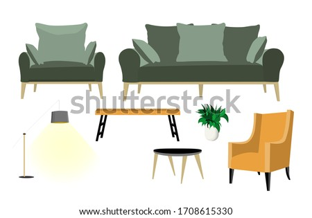 a set of furniture for the