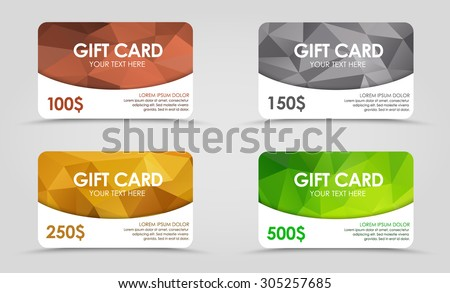 a set of gift  discount  cards