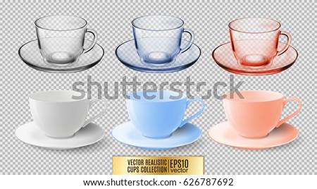 a set of glass and ceramic tea