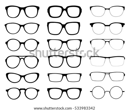 a set of glasses isolated