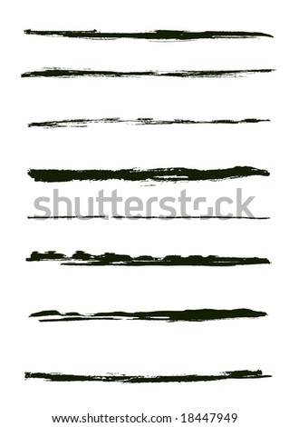 A set of grunge vector brush strokes (individual objects).