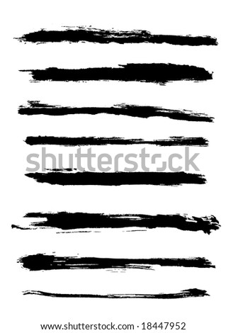 A set of grunge vector brush strokes (individual objects). #18447952