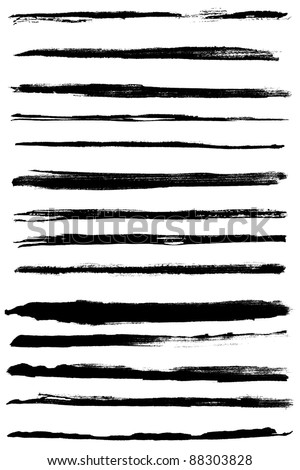 a set of grunge vector