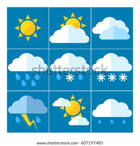 A set of 9 icons for weather forecasting for your site!