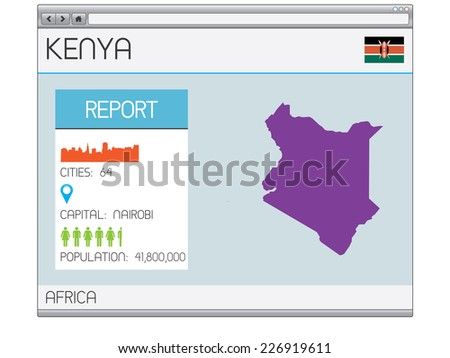 A Set of Infographic Elements for the Country of Kenya