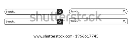 A set of internet search panels. Information search system. Internet search system.