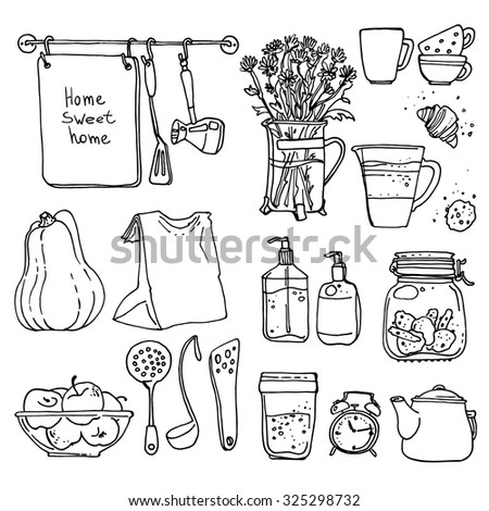 a set of kitchen utensils