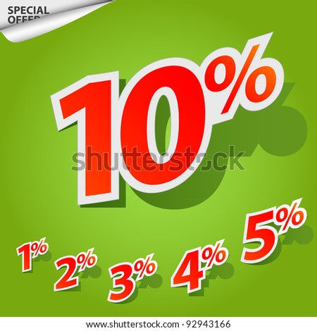 A set of labels for special offers and sales discount