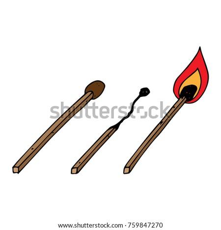 a set of matches burned match