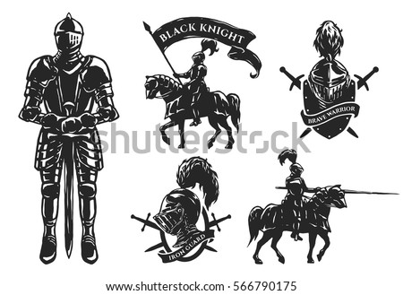 a set of medieval knights