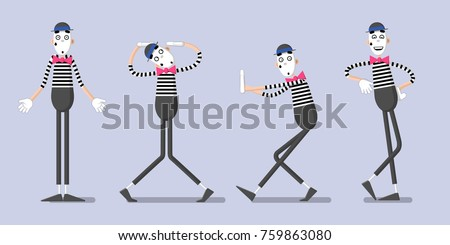 a set of mime performances