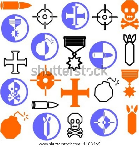A set of 22 miscellaneous icons. Check my portfolio for many more images of this series.