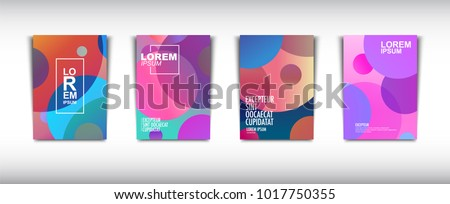 A set of modern abstract Cover Design . Cover Design template for the decoration presentation, brochure, catalog, poster, book, magazine etc. Vector Illustration