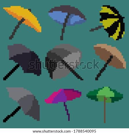 a set of nine illustration of