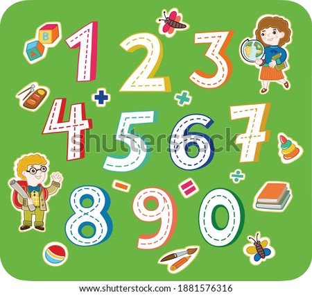 a set of numbers from 0 to 9 is