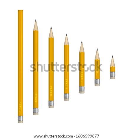 Sharp and Dull Pencils Labels - Plain and Cursive Text | TpT