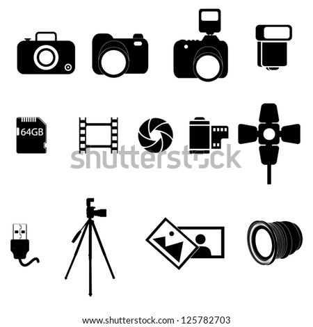 A set of photography icons