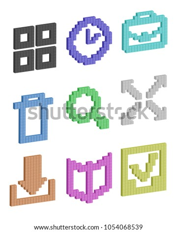 a set of pixel icons for your