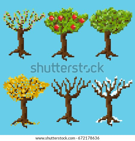 a set of pixel trees for