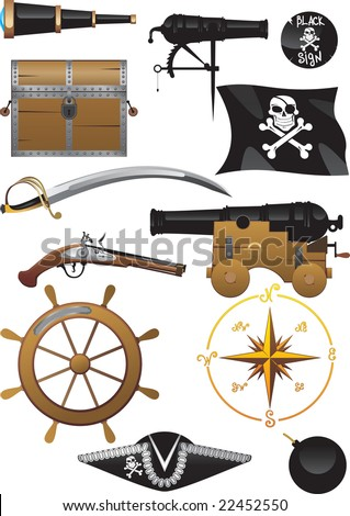 A set of real pirates. All you need to immediately go out to sea!