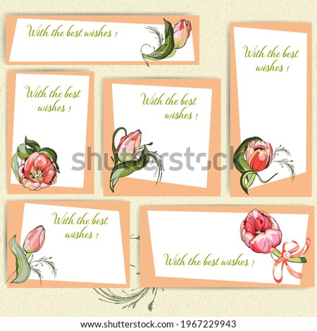 a set of rectangular postcards