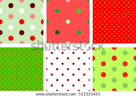 a set of red and green  retro