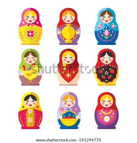 a set of russian matryoshka