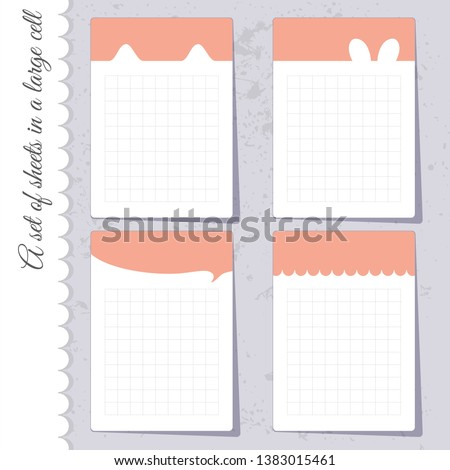 a set of sheet templates for
