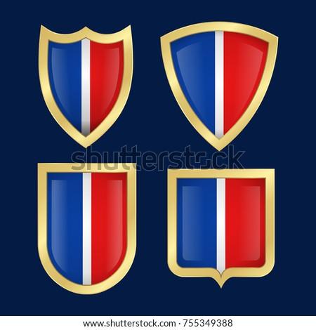 English shield vector