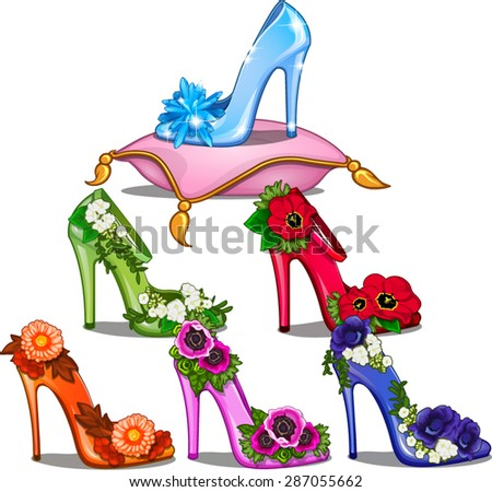 a set of shoes with fashionable