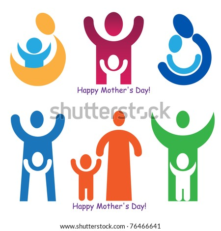 A set of signs and symbols for Mother's Day.