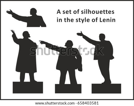 a set of silhouettes in the