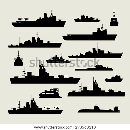 a set of silhouettes of