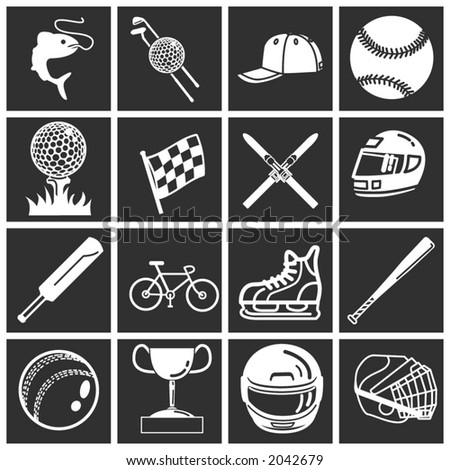 a set of sports icons / design elements
