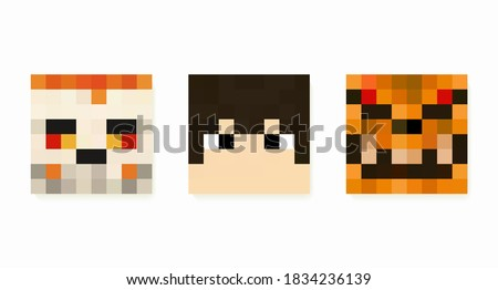a set of square pixel masks in