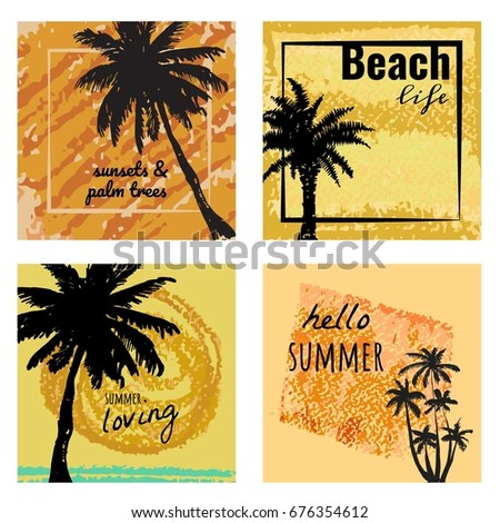 a set of 4 summer banners with