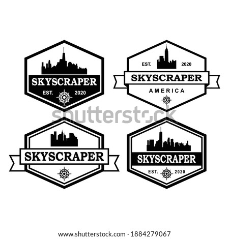 A Set Of Tallest Skyscraper Logo , A Set Of Architecture Logo