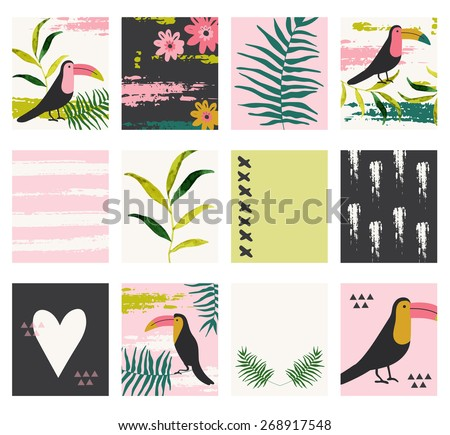 a set of 12 templates for greeting cards in yellow gray and white floral