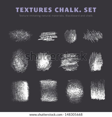 A set of textures. Blackboard and chalk
