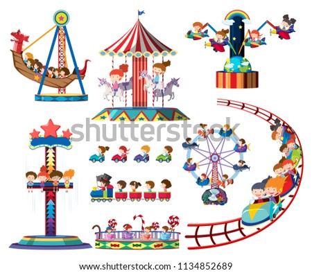 a set of theme park rides