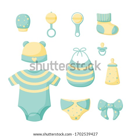 a set of things for a newborn