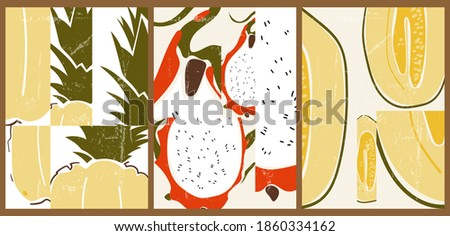 a set of three abstract