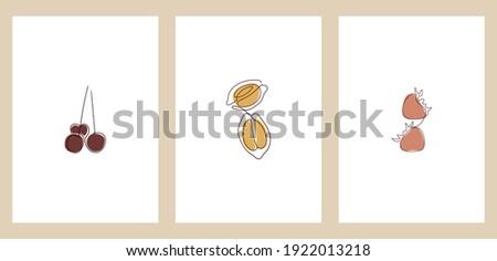 a set of three minimalist