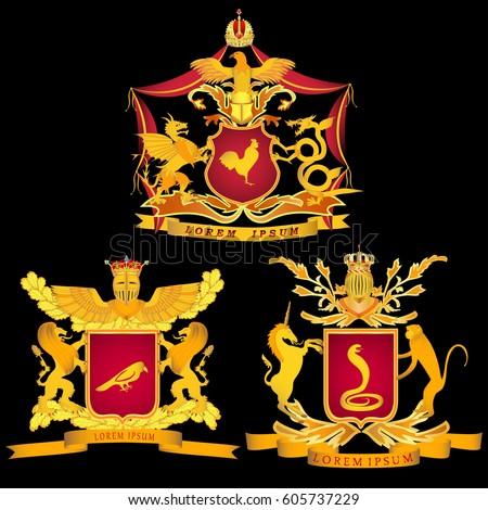 a set of three royal or