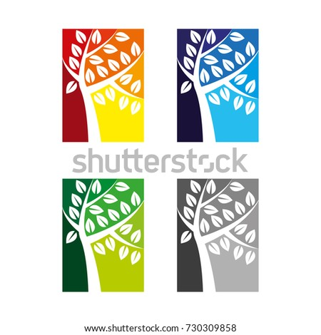 Stock Photo A set of tree icons