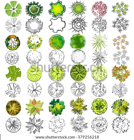 Royalty free A set of treetop symbols for 377491552