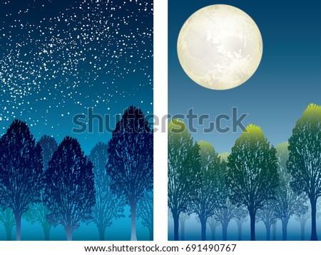 a set of two vector forest