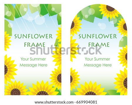 a set of two vector sunflower