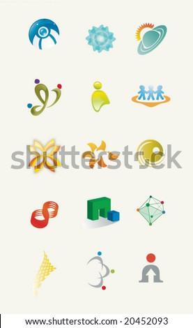 A set of unique icons Stock fotó ©