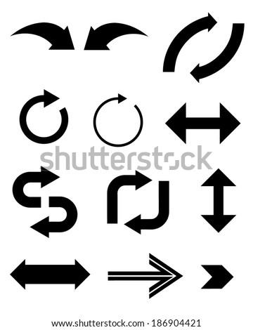 a set of unique vector arrows